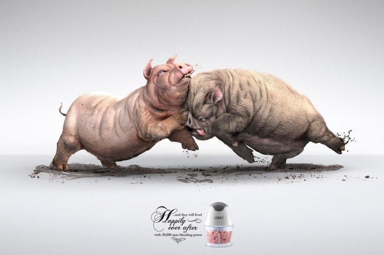 otto-meat-blender-cock-fighting-pig-fighting-cow-fighting-outdoor-print-381687-adeevee